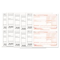 TOPS W-2 Tax Forms, 6-Part, 5 1/2 x 8 1/2, Inkjet/Laser, 50 W-2s & 1 W-3