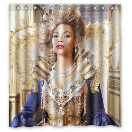 Ganma Beyonce Shower Curtain Polyester Fabric Bathroom 66x72 Inches