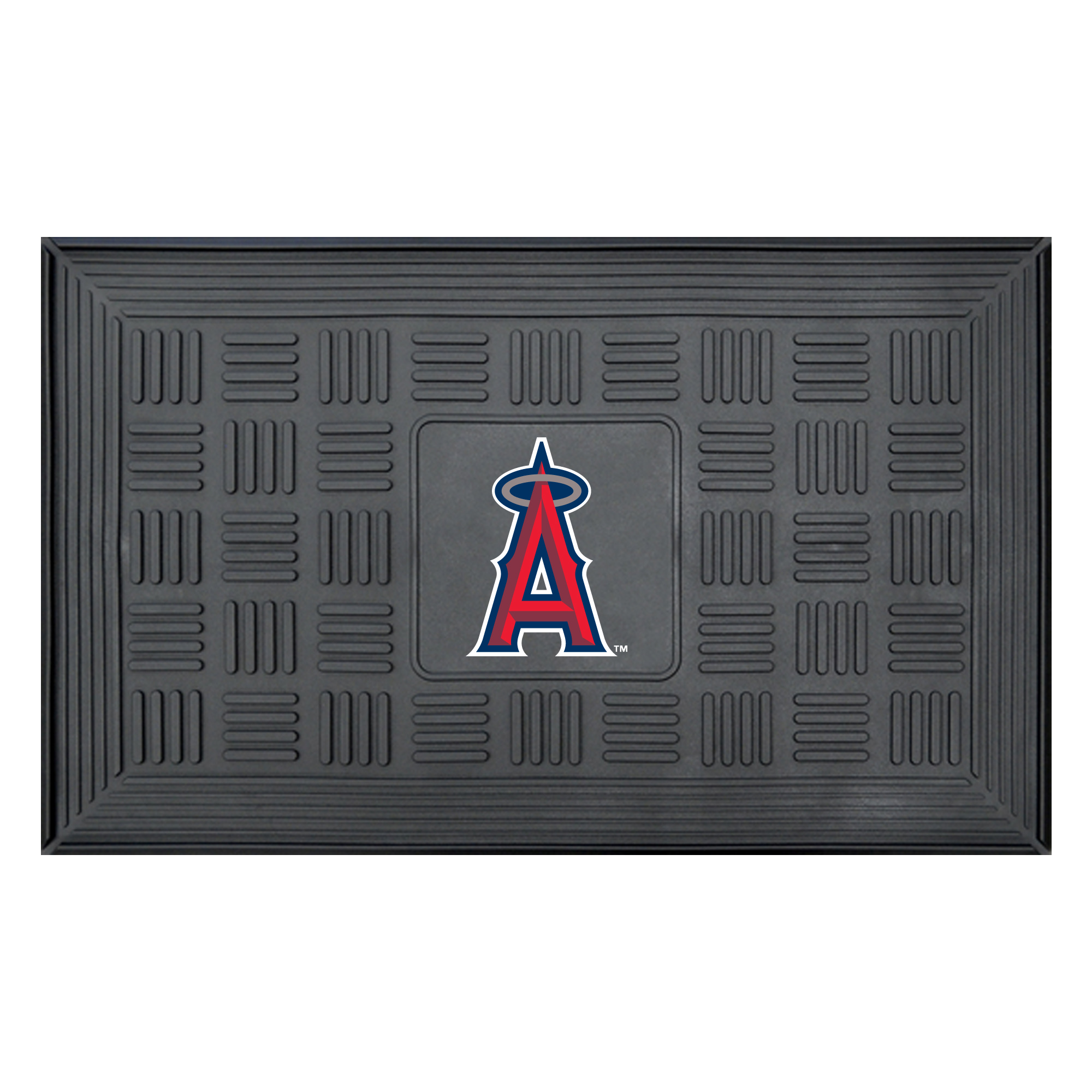 "Los Angeles Angels 19"" x 30"" Vinyl Medallion Door Mat - Black - No Size"