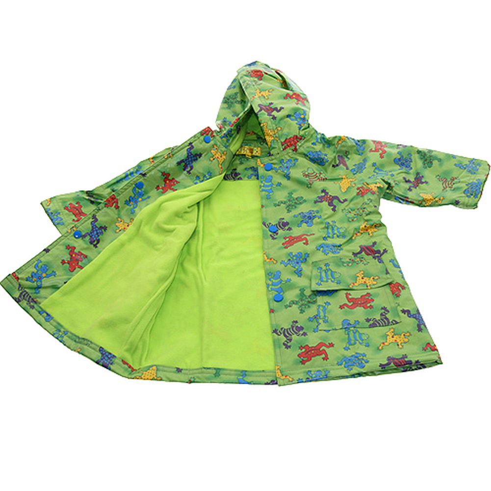 Pluie Pluie Boys Outerwear Green Frog Print Lined Raincoat 12M-8