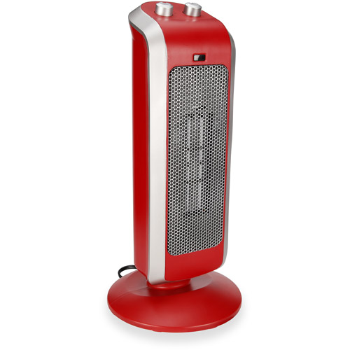Crane Ceramic Tower Heater - Red