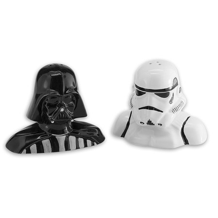 Star Wars - Ceramic Salt & Pepper Shakers - Darth Vader & (Darth Vader & Stormtrooper Salt & Pepper Shakers)