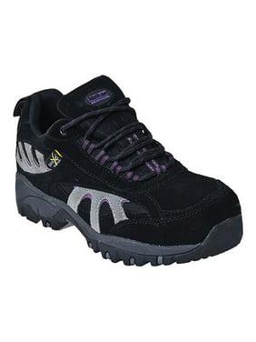 McRae Industrial Work Shoes Womens Hiker Steel Toe Black MR47300