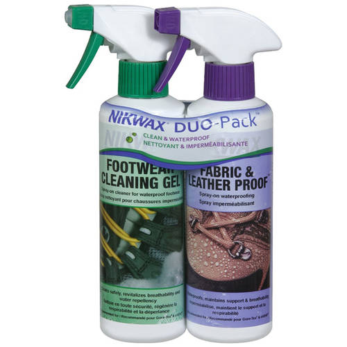 Nikwax Waterproofing Fabric and Leather Spray Duo Pack