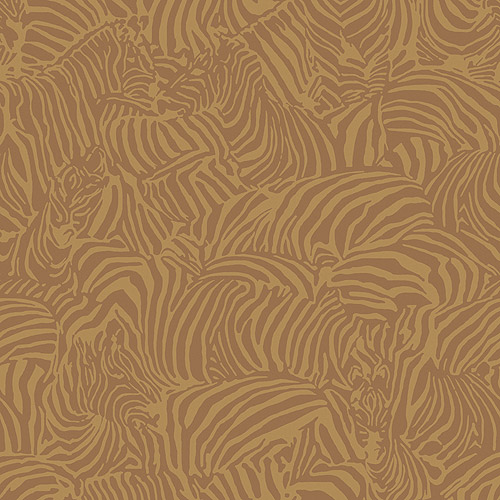 Blue Mountain Zebra Wallcovering, Gold