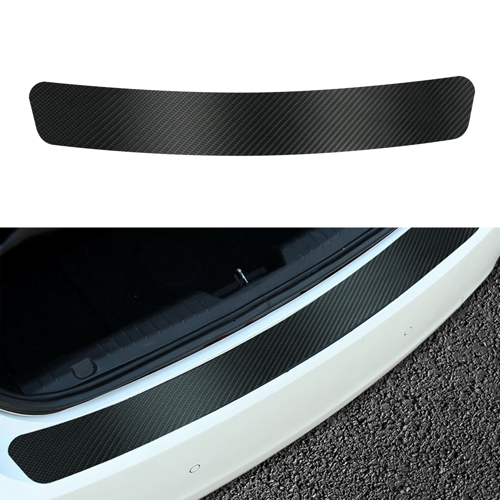 Carbon fiber car rear guard bumper 4d sticker panel protector anti scratch walmart com