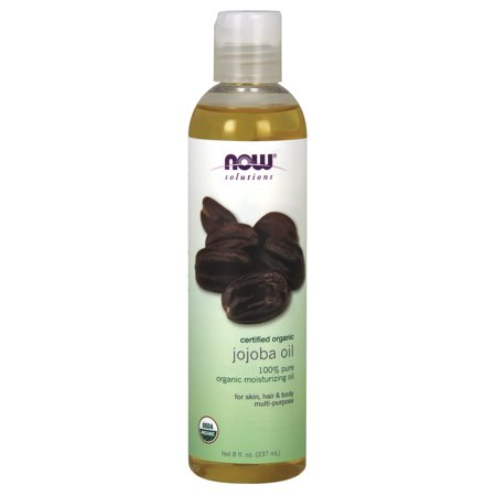 NOW Solutions, Organic Jojoba Oil, Moisturizing Multi-Purpose Oil for Face, Hair and Body,