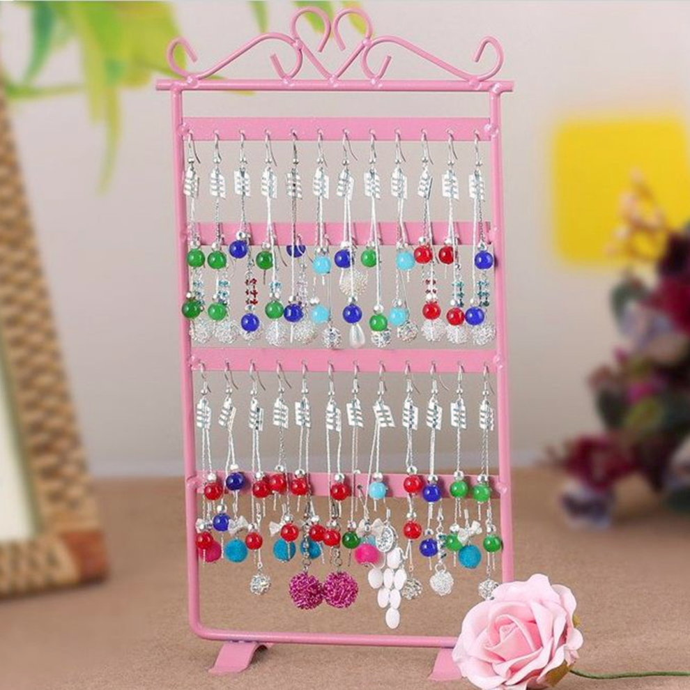 48 Hole Earrings Ear Studs Jewelry Display Rack Metal Stand Holder Showcase by OUTAD