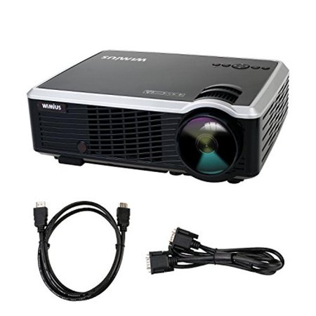 Projector  Video Projector Lcd 3000 Lumens Full Hd Multimedia Home Theater Portable Mini Projector 720P High Definition Resolution And Supports 1920 1080P For Home Cinema  Video Games  Movie Night
