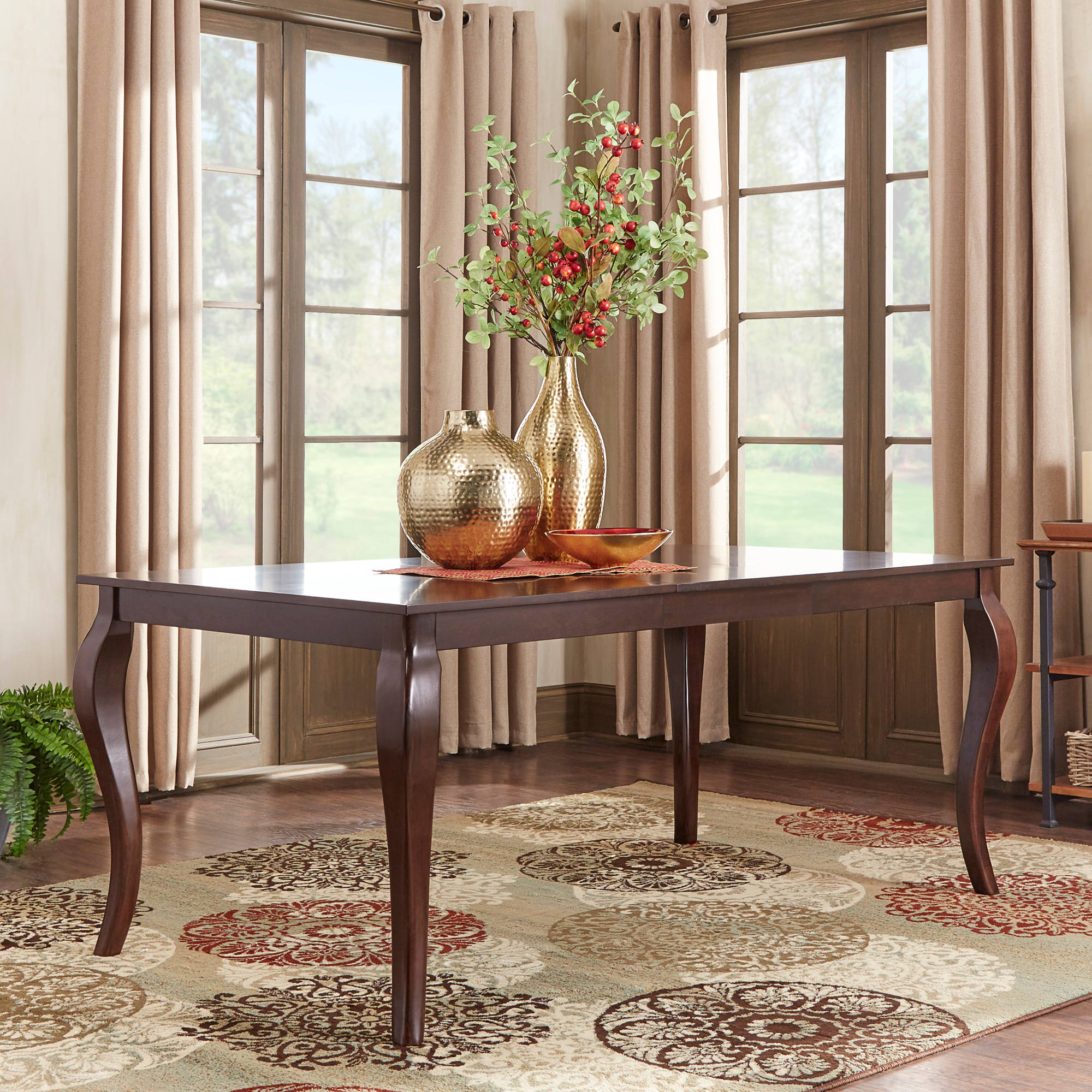 "Weston Home Abram 72"" Dining Table, Cabriole Table Leg"