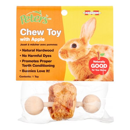 Marshall Pet Products Peter's Small Animal Apple Chew Toy - Apple Toys