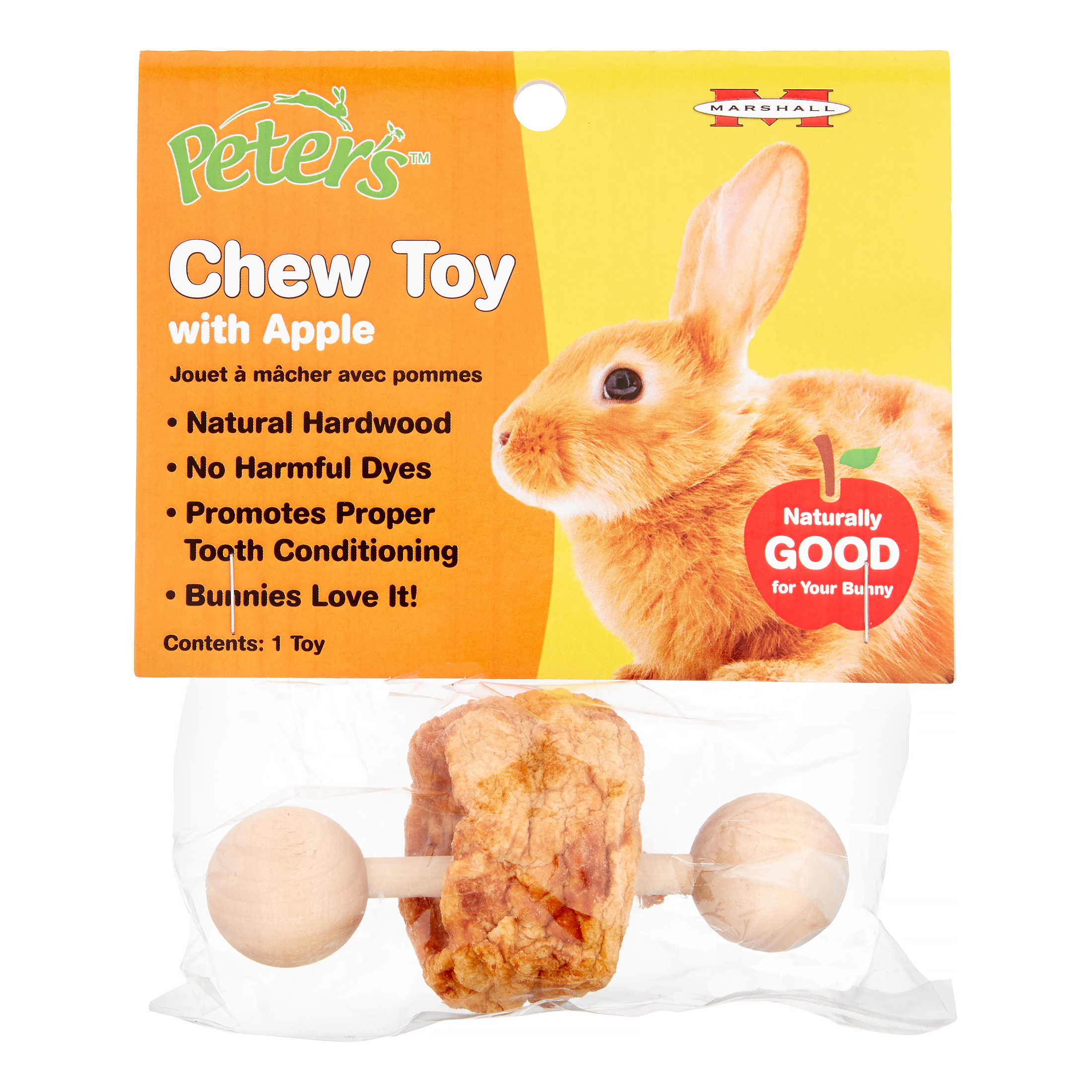 Marshall Pet Products Peter's Small Animal Apple Chew Toy