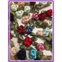 """Charmed 100 Polyester Cord Berry Flower 3/8"""" Applique Sewing Bow Craft Mix Color"""