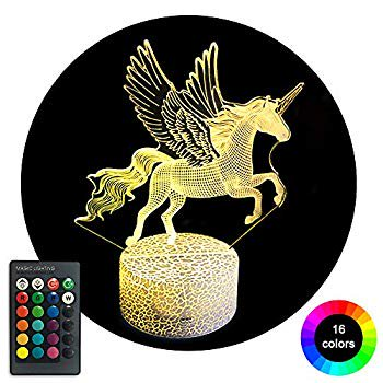 Unicorn Gifts for Girls 3D Unicorn Night Light with Remote & Smart Touch 16 Colors Changing, Unicorn Toys Decor Lamp Birthday Halloween Christmas for Age 3 4 5 6 7 8 9 10+ Year Old Girl