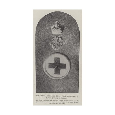 The New Badge (1902) for Queen Alexandra's Naval Nursing Sisters Print Wall