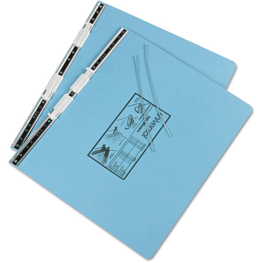 "Universal Pressboard Hanging Data Binder, 14-7/8"" x 11"" Unburst Sheets, Light Blue"