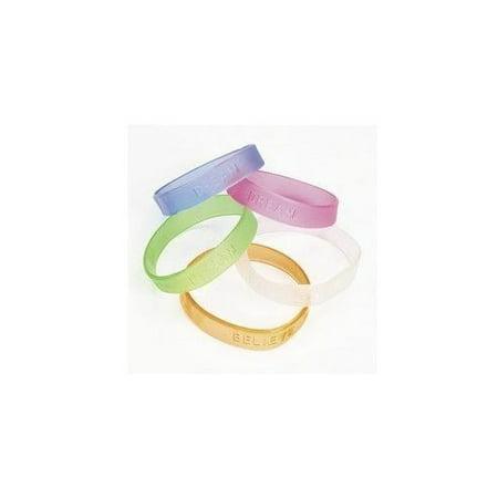 Rubber Jelly Sayings Bracelet (2 dozen) - Bulk [Toy] - Jelly Bracelets Bulk