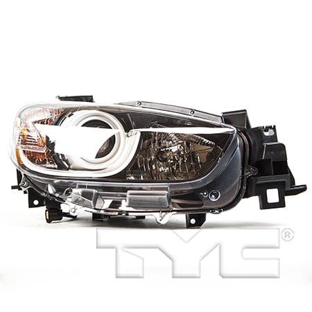CarLights360: Fits 2013 2014 2015 2016 Mazda CX-5 Headlight Assembly Passenger Side (Right) DOT Certified w/Bulbs Halogen Type - Replacement for (2014 Mazda Cx 5 Headlight Bulb Size)