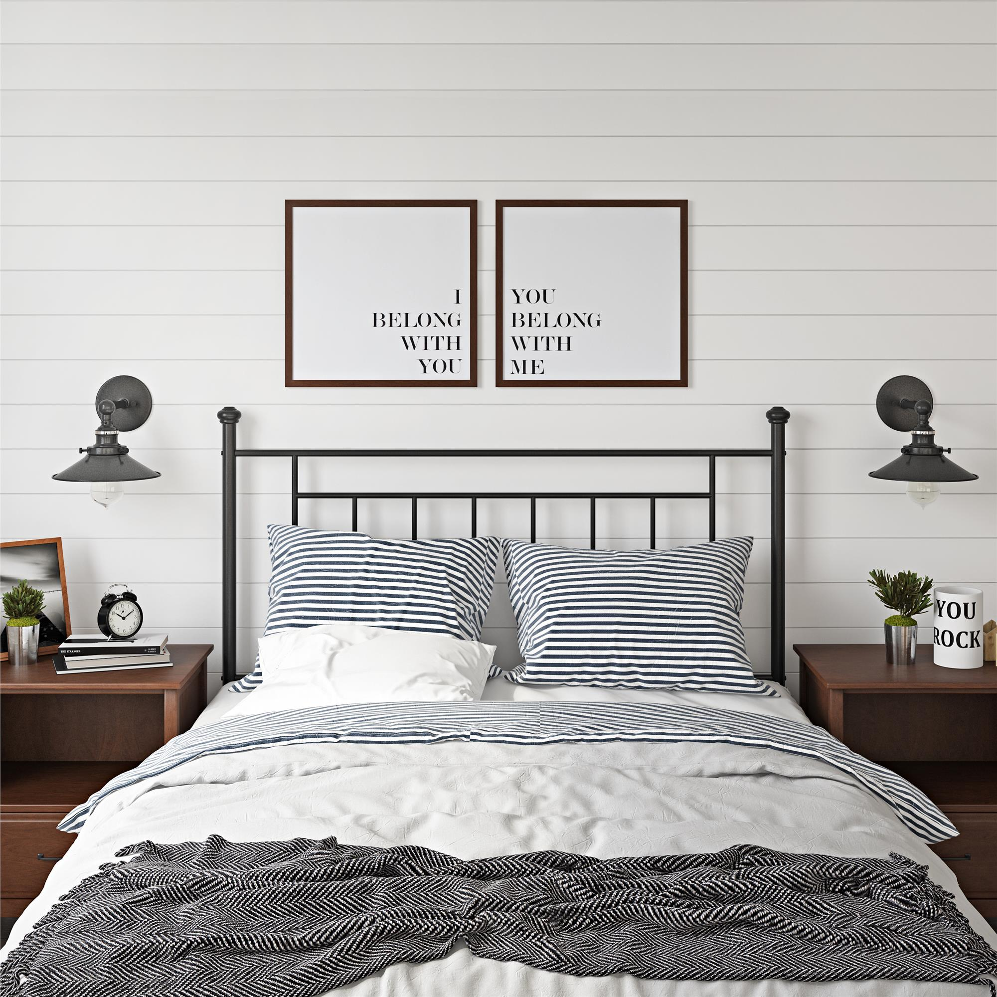 Mainstays Tempo Full Queen Metal Headboard, Multiple Colors