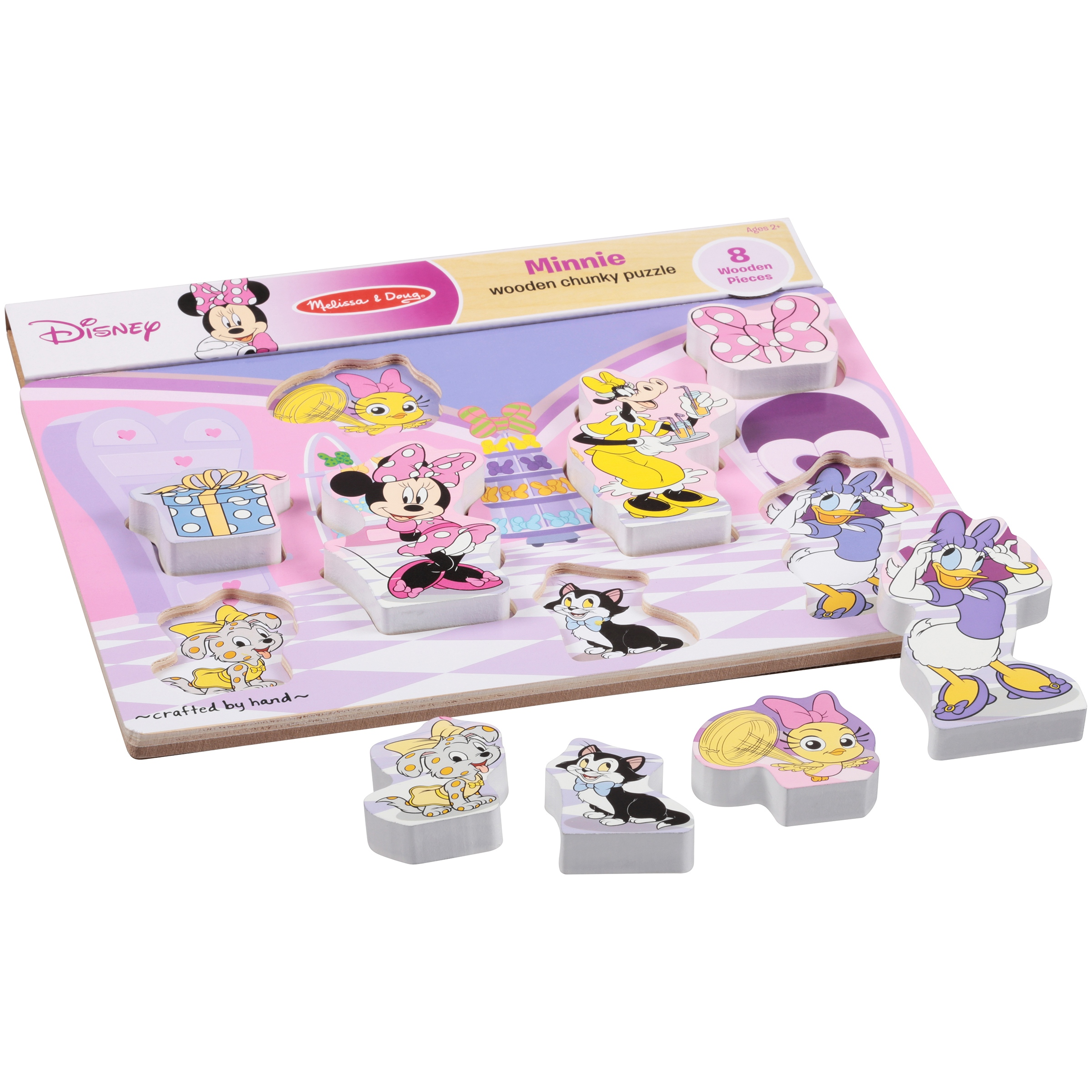 Melissa & Doug Disney Junior Minnie Mouse Wooden Chunky Puzzle