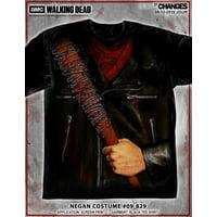 The Walking Dead Negan Costume Tee Lucille Bat Rick Saviors Mens Shirt 09-829 (Regular, 2XL)