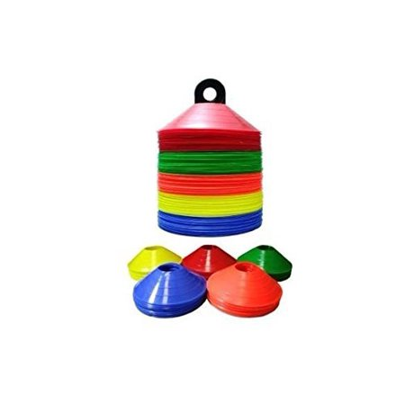 Disc Cone Hurdles - 1 Sport Stop Multi Color 50 Disc Cone Set with Carrier