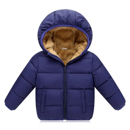 ef246314e everbest - Winter Baby Boys Jackets Girls Cotton Snowsuit Coats Baby  Thicken Warm Velvet Parkas Kids Boy Jackets Outerwear - Walmart.com