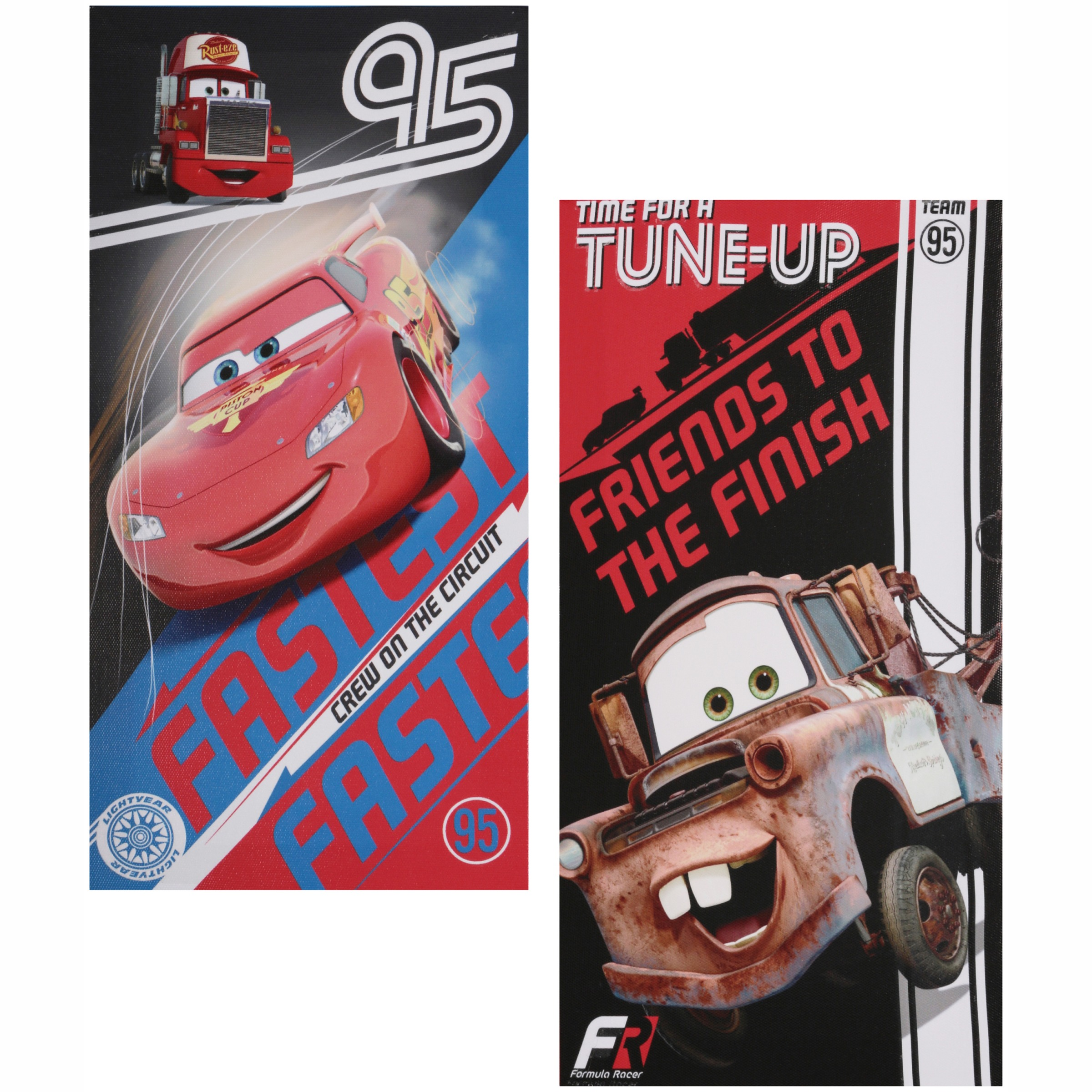 Disney Cars Glow in the Dark 2-Count Canvas Wall Art