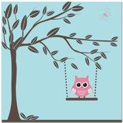 Secretly Designed Swinging Owl Art Print