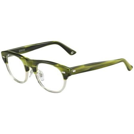 Gucci Round Eyeglass Frames GG1089 50mm Green (Gucci Plastic Frames)