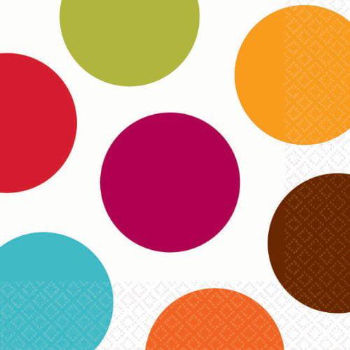 beverage napkins multi large polka dot by Amscan - image 1 of 1