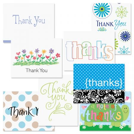 Spring Thank You Note Cards Value Pack