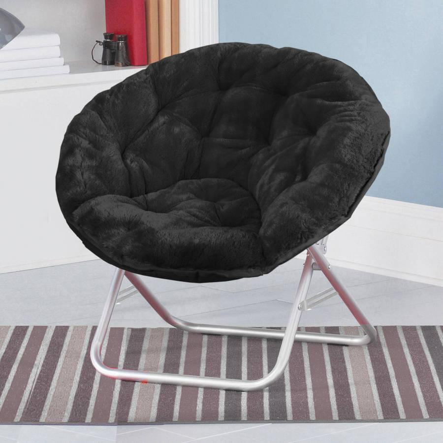 Multiple Colors Mainstay Faux Fur Saucer Chair