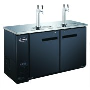 "Heavy Duty Commercial 2 Tap Black Beer Dispenser (24"" depth 60"" length) by SABA"