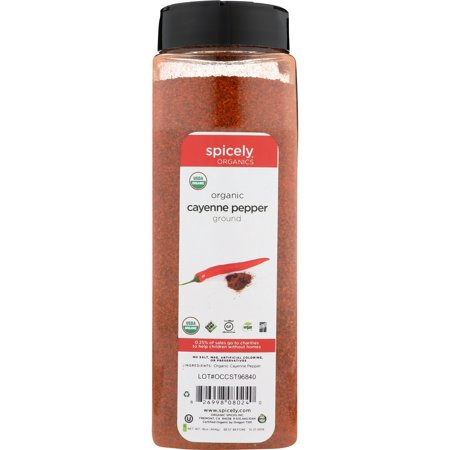 Spicely Organics Cayenne Pepper Club Size Certified Gluten (Best Organic Cayenne Pepper)