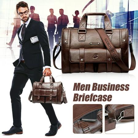 LDPT Fashion 100% Brand New Men Business Vintage Laptop Bag Briefcase Big Capacity Horizontal Handbag Travel (Best Business Bag Brands)