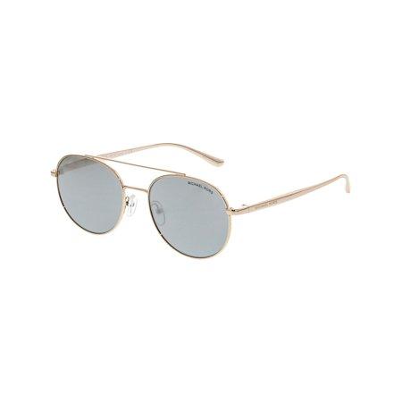 Michael Kors Women's Mirrored MK1021-11166G-53 Gold Oval Sunglasses