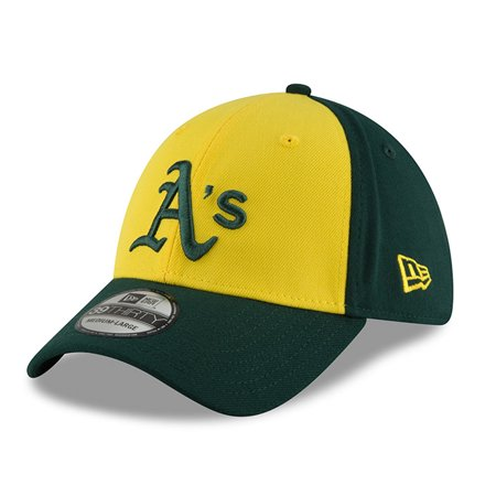 sneakers for cheap da060 9cad7 Oakland Athletics New Era 2018 Players  Weekend 39THIRTY Flex Hat - Yellow  Green - Walmart.com
