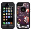 SKIN DECAL FOR OtterBox Defender Apple iPhone SE Case - Merry Christmas Santa Claus on Parachute DECAL, NOT A CASE OtterBox Defender Apple iPhone SE Skin Decal Merry Christmas Santa Claus on Parachute