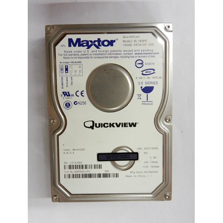160 Gb Mini Laptop - 6L160P0 160GB UDMA/133 7200 RPM 8MB IDE Hard Drive, Maxtor DiamondMax 10 6L160P0 160 GB IDE Hard Drive General Features: 160 GB storage capacity By Maxtor