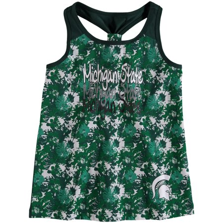 Michigan State Spartans Colosseum Girls Youth Geller Cup Tank Top - Green