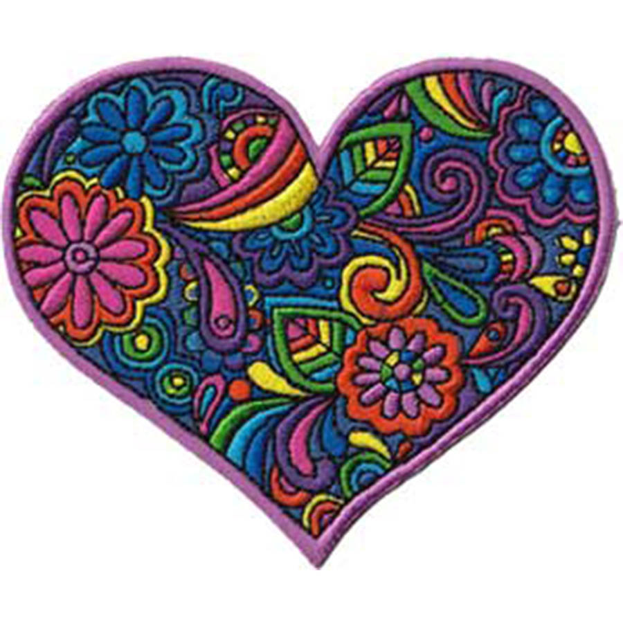 "C&D Visionary Patch, Paisley Heart, 3.75"" x 3"""