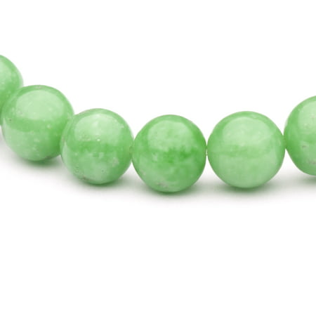 Round - Shaped Fine Jade Beads Semi Precious Gemstones Size: 10x10mm Crystal Energy Stone Healing Power for Jewelry Making Chinese Jade Beads Bangle