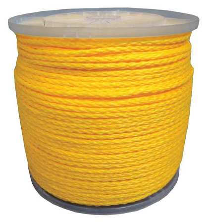 Rope,1/4 in. x 1000 ft.,Braided ZORO SELECT 20TL63