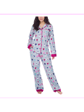 Munki Munki Women 2-Piece PJ Flannel Pajama Sleep Set