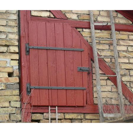 Canvas Print Wooden Door Rustic Door Roof Barn Door Stretched Canvas 32 x 24