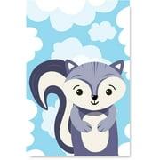 Awkward Styles Skunk in Clouds Unframed Poster Artwork Cute Skunk Baby Room Wall Art Skunk Poster Decor Skunk Digital Print Kids Birthday Gifts Ideas Skunk Poster Illustration Skunk Nursery Baby Room
