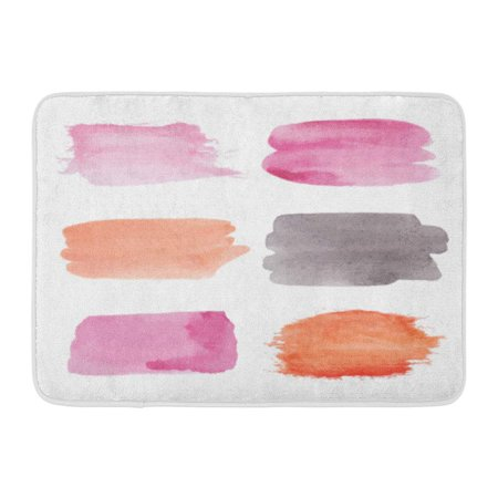 Anniversary Assortment (GODPOK Red Anniversary Pink Bright Watercolor Paint Stains for Your Design Orange Abstract Assortment Rug Doormat Bath Mat 23.6x15.7 inch)