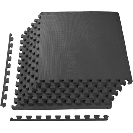 Balancefrom Bfpm 01blk Puzzle Exercise Mat With High