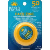 Ocean Potion Suncare Face Clear Zinc Oxide, SPF 50, 1 Oz.